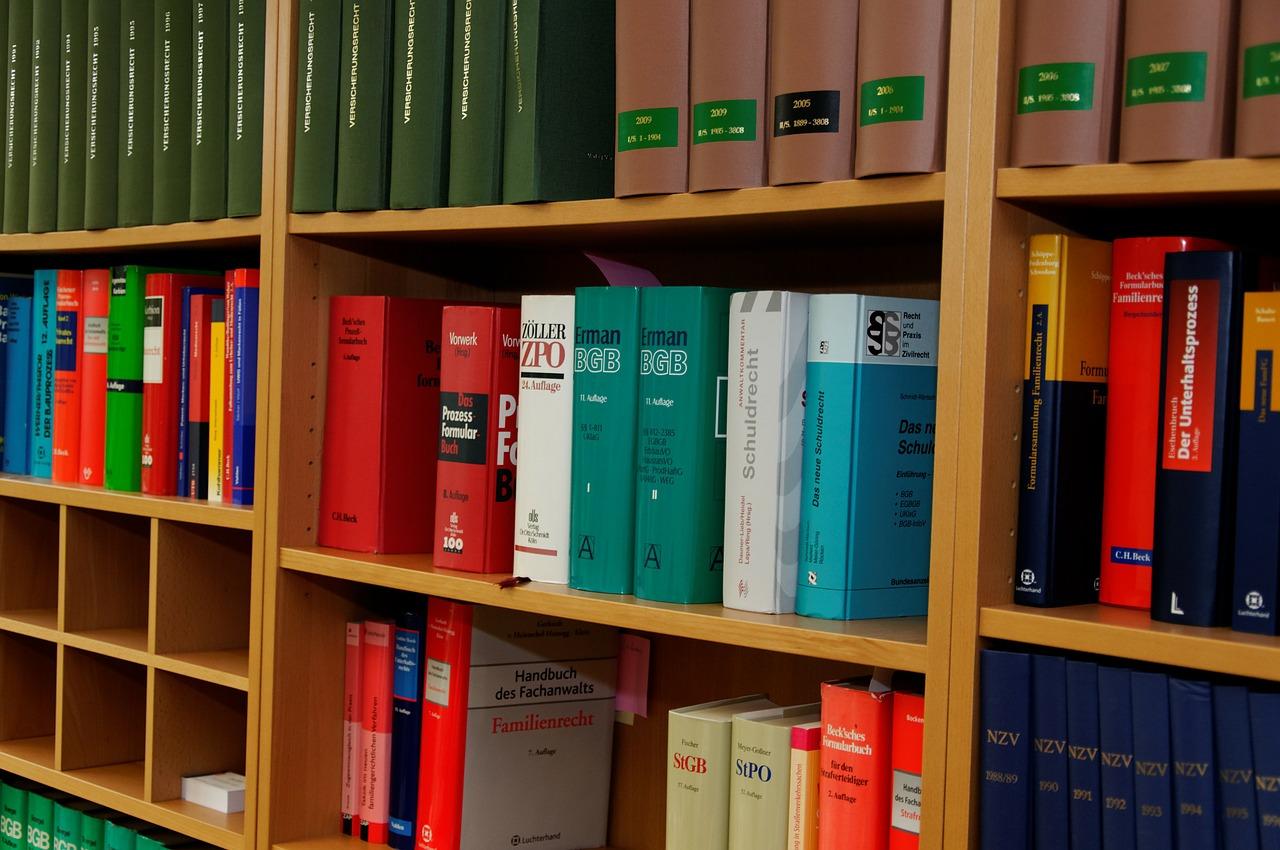 Rechtsbuecher bookcase-335848_1280